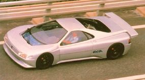 A few lucky souls were offered a test drive in which the Oxia concept car shrieked past at over 200 mph.