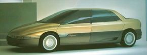 Non-opening windows heightened the streamlined shape of the 1988 Renault Megane concept car, and gave it aerodynamic qualities that rivaled some airplanes.
