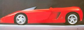 Image Gallery: Concept Cars The striking 1989 Ferrari Mythos concept car was based on the chassis and powertrain of the midengine Ferrari Testarossa. See more concept car pictures.