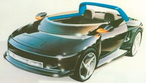 A molded plastic tub formed the 1989 Plymouth Speedster concept car's boatlike body, inspiring notions of hopping in the car for a trip to the beach.