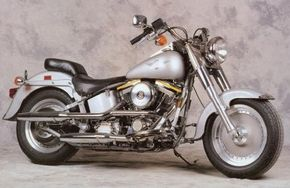 The 1990 Harley-Davidson FLSTF Fat Boy debuted to tremendous acclaim. See more motorcycle pictures.
