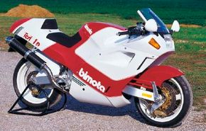 The 1992 Bimota Tesi and mechanically complex. See more motorcycle pictures.