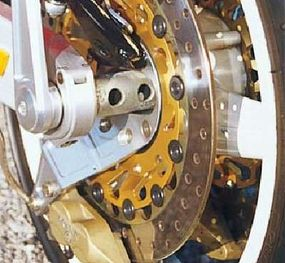The wheel rotated on a bearing on the outside of the hub.
