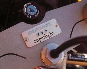 So rare is the Ducati Superlight that each example is numbered.