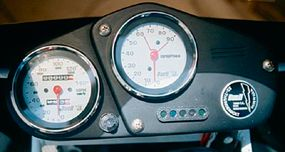 The S2 hues to Buell's taste for tech-trendy gauges.
