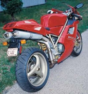 The 916 was not the most powerful bike in its class, but it was one of the lightest.