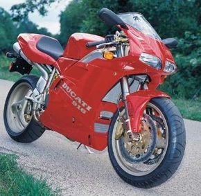 Lightweight, exotic, and water-cooled, the 1994 Ducati 916 was a serious challenge to other motorcycles. See more motorcycle pictures.