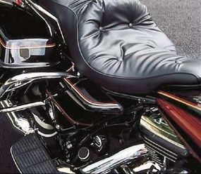 The cushy seating and generous footrests for driver