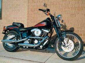 The Bad Boy, introduced in 1995, had a retro look but featured up-to-date technology. See more motorcycle pictures.