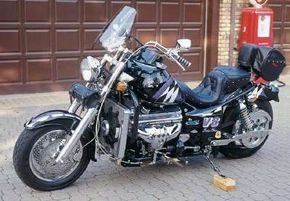 """The 1996 Boss Hoss is the epitome of the """"bigger is better"""" philosophy. See more motorcycle pictures."""