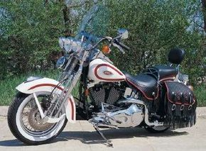The 1997 Harley-Davidson FXSTS Heritage Springer was styled after Harleys introduced in the 1940s. See more motorcycle pictures.