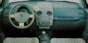 This dashboard from the nearly production-ready 1996 Concept 1 show car would show up virtually unchanged in the 1998 Volkswagen New Beetle.