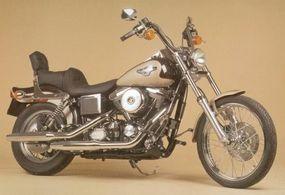 A posh seat and ergonomic handlebars make the Harley-Davidson FXDWG a comfortable ride.