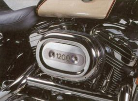 The V-twin gained aluminum heads and cylinders in 1986, when it transitioned to Evolution status.
