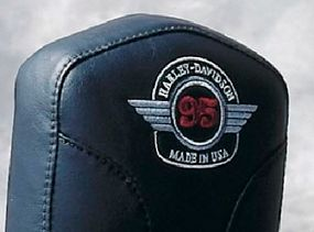 The anniversary logo was nicely stitched into the available passenger backrest.