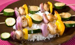 Kabobs are one of the easiest five-ingredient meals to put together, and kids will love to help you prepare them. See more easy weeknight meals pictures.
