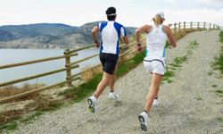 You have a better chance of staying on schedule if you run with a friend.