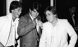 """Ah -- so young. A few members of the so-called """"Brat Pack"""" -- Rob Lowe, Tom Cruise and Emilio Estevez -- photographed in 1982."""