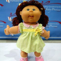 Cabbage Patch Kids have made a come-back in recent years. Here's one displayed at the Toy Industry Association & Toy Wishes Holiday Preview show in October 2004.