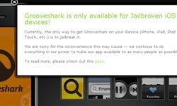 Heads up! When it comes to your iOS device, you're going to have to jailbreak it if you want to install Grooveshark. Is it worth voiding your warranty?