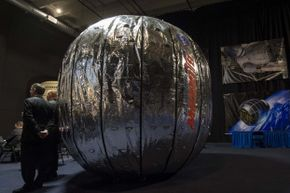 The BEAM, as seen in Jan. 17, 2013. It kind of looks like a silver pumpkin that you live in, in space.