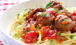 Make that spaghetti even healthier by using whole-grain pasta instead of white.