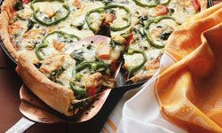 You can put almost any vegetable in a quiche.
