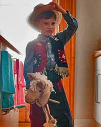 For some little boys, cowboys are never out of style.
