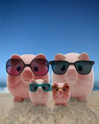 This piggy bank family knows how to save and still have a good time. How about yours?