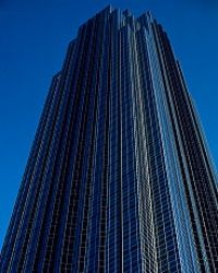 The Transo Tower in Houston, later renamed the Williams Tower, is a Philip Johnson design.