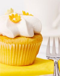 Luscious lemon cupcakes are a sunny treat with just a hint of tartness.