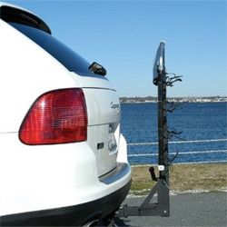A hitch extender could allow you to add on a bike rack.
