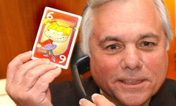 Miss Cleo (and her psychic hotline) turned out to be a scam. Florida attorney general Bob Butterworth mimics her style as he announces his intent to file suit against the company.
