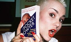 """Susan Powter urged the infomercial-watching masses to """"Stop the insanity!"""""""