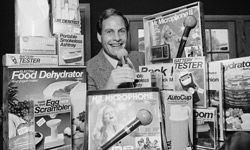 Ron Popeil's rapid-fire style set the tone for a generation of infomercials.