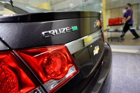 A Chevrolet Cruze Eco is displayed at the General Motors headquarters on April 1, 2014, in Detroit, Michigan. General Motors has recalled millions of vehicles in recent months due to a power steering defect and a faulty ignition-switch.