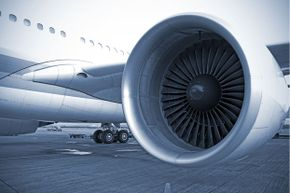 A modern aircraft engine waits for orders at an airport. What would Frank Whittle make of that!