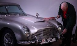 """The Aston Martin DB5 driven by James Bond in the film """"Goldfinger"""""""