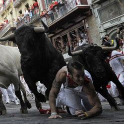 Does this look like it would scare the crud out of you? Learn about the excitement of San Fermin in a few pages.