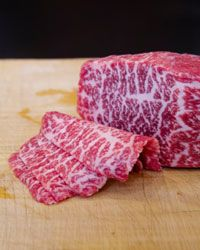 Kobe beef has a unique marbled texture that's hard to duplicate.