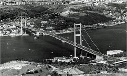The Bosphorus Bridge at the Nov. 5, 1973, opening ceremony by President Koroturk on the 50th anniversary of the founding of the Turkish Republic.