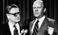 Nelson Rockefeller had hoped to become president but had to settle for the vice presidency under Gerald Ford.