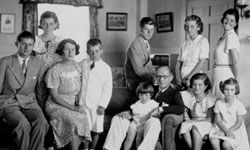 Joseph P. Kennedy and his expansive brood.