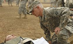 Army surgeons are in demand. Here, a brigade surgeon participates in a training exercise in 2009.