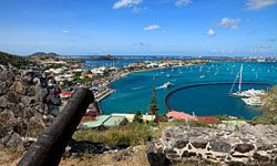 A view of the beautiful Marigot Bay in St. Martin