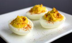 Deviled eggs are a retro appetizer.