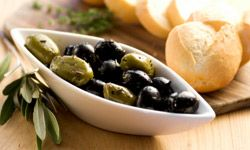 Add a Mediterranean accent to the buffet table with olives.