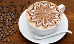 It's still a mystery how they make that pretty design in the froth on top.