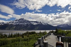 Four to five days a month, you can view the famous Turnagain Arm bore tide from the Seward Highway.