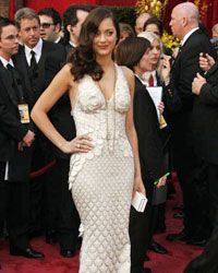 Marion Cotillard wears Gaultier to the Oscars in 2008.